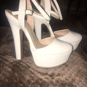 White heels.